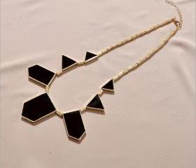 Rhinestone Geometric Shape Necklace