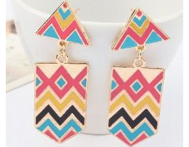 Pair of Exquisite Multi-Colored Exaggerated Earrings